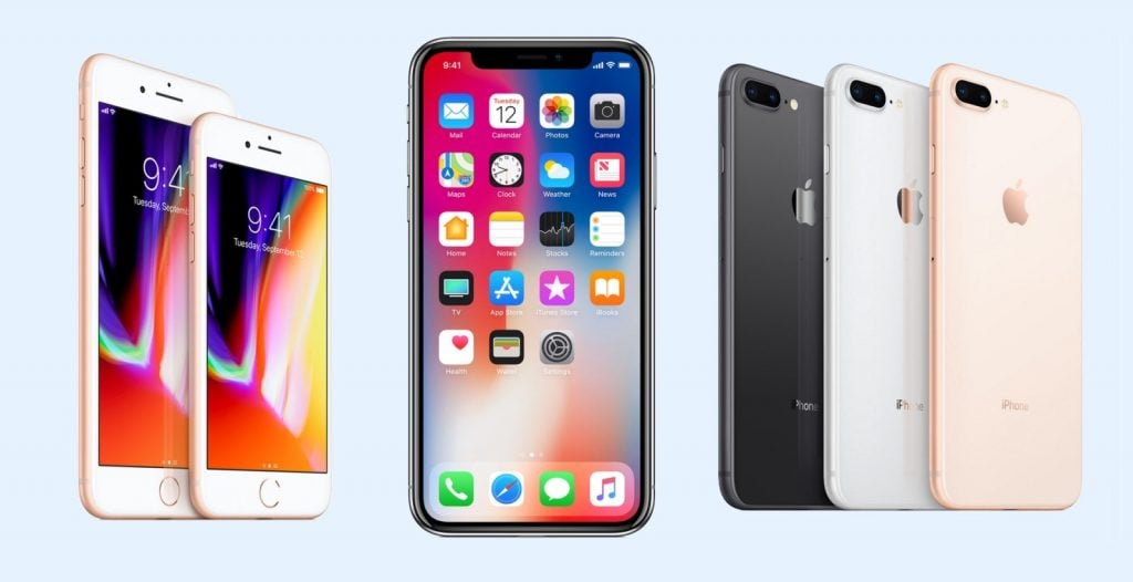 iPhone 8 & iPhone 8 Plus % iPhone X