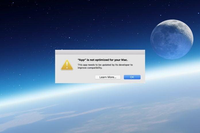 macOS 32 bit desteği sona eriyor