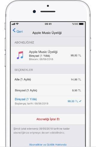 Abonelik (iPhone)