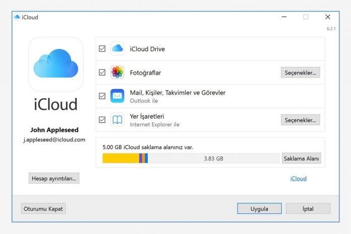Windows 10 için iCloud Güncellemesi