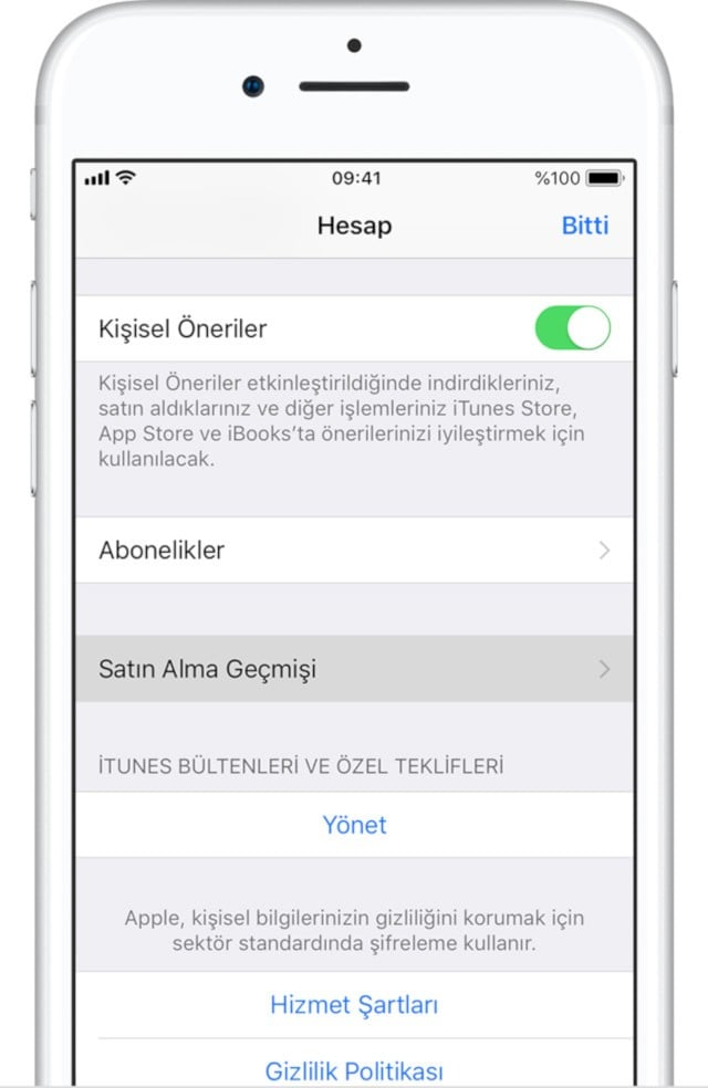 iOS Ekran Görüntüsü - 1