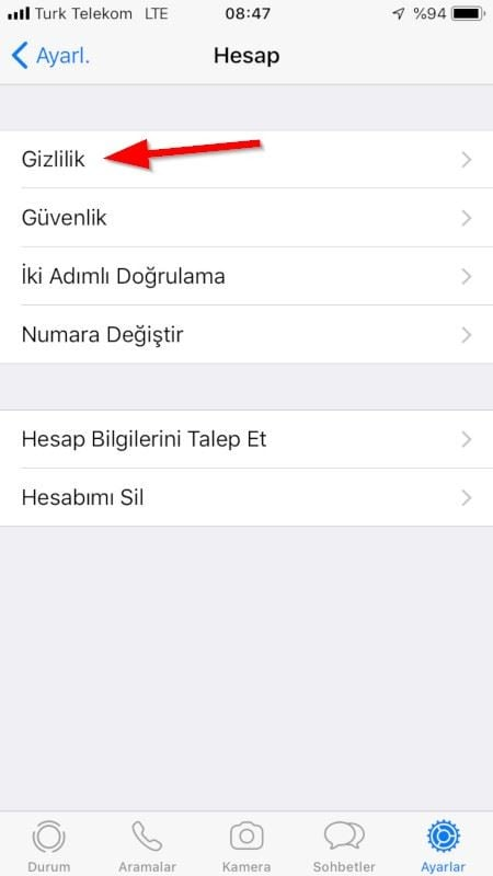 WhatsApp Touch ID
