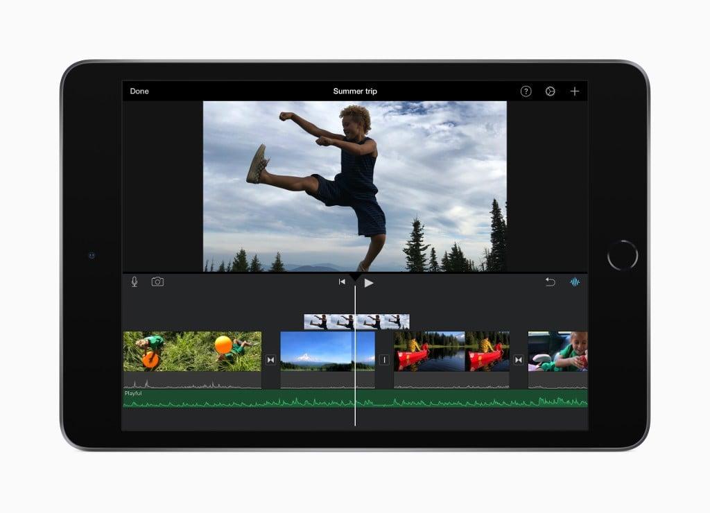 iPad mini iMovie