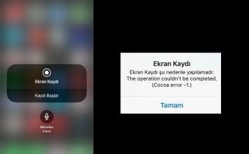 iPhone & iPad için Ekran Kaydı hatası çözümü