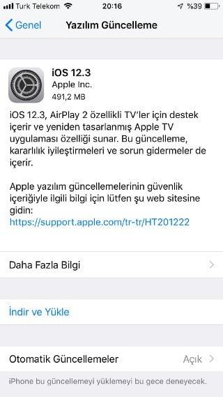 iOS 12.3 yayınlandı