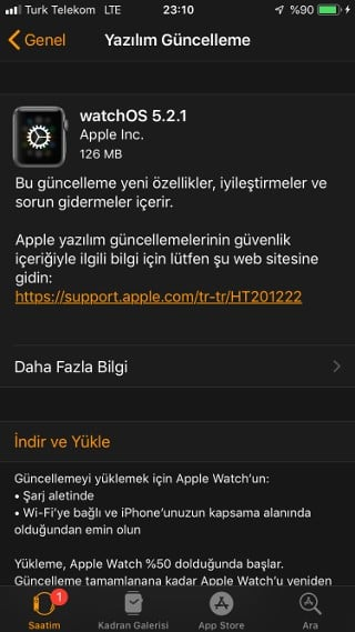 watchOS 5.2.1 yayınlandı