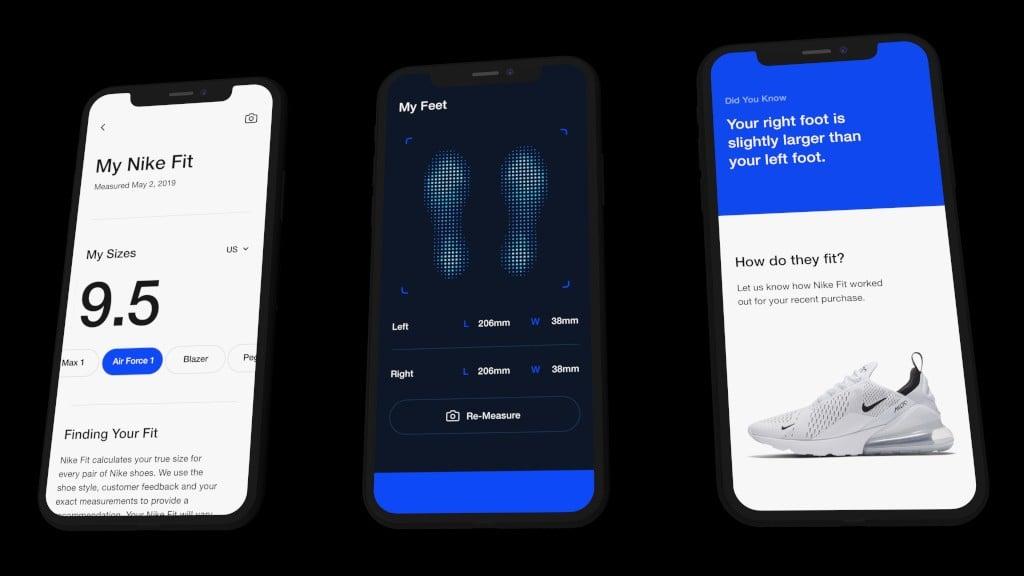 Nike'ın uygulaması ayakkabı numarasını belirlemek için artırılmış gerçeklik kullanacak