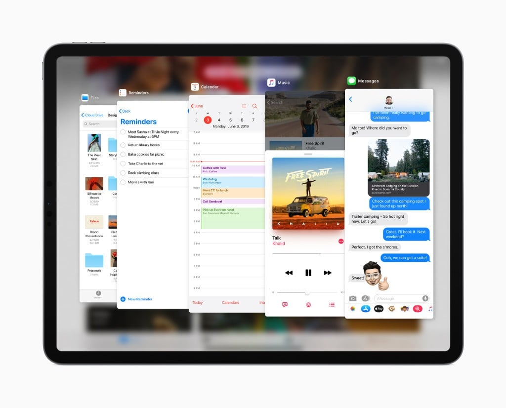iPadOS Slide Over