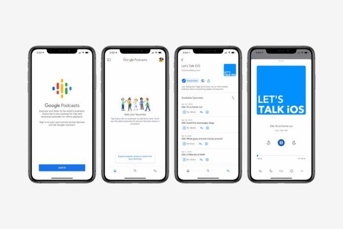 Google Podcasts App Store'da