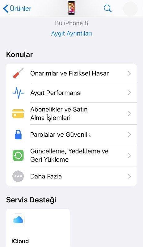 Apple Destek uygulaması