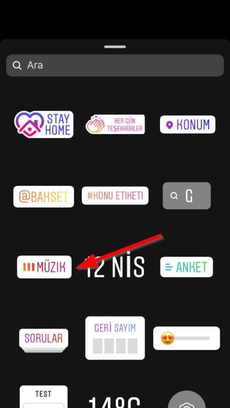 Instagram Müzik etiketi