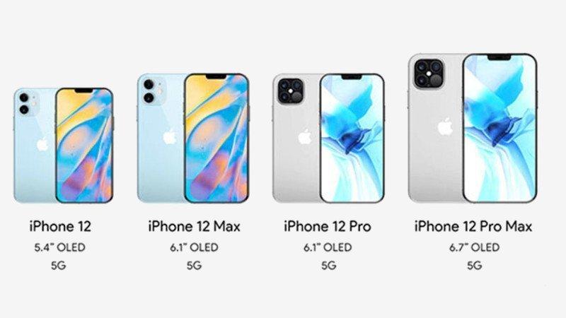 4 farklı iPhone 12 modeli
