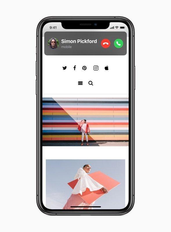 Gelen FaceTime ve telefon aramaları ve Siri etkileşimleri