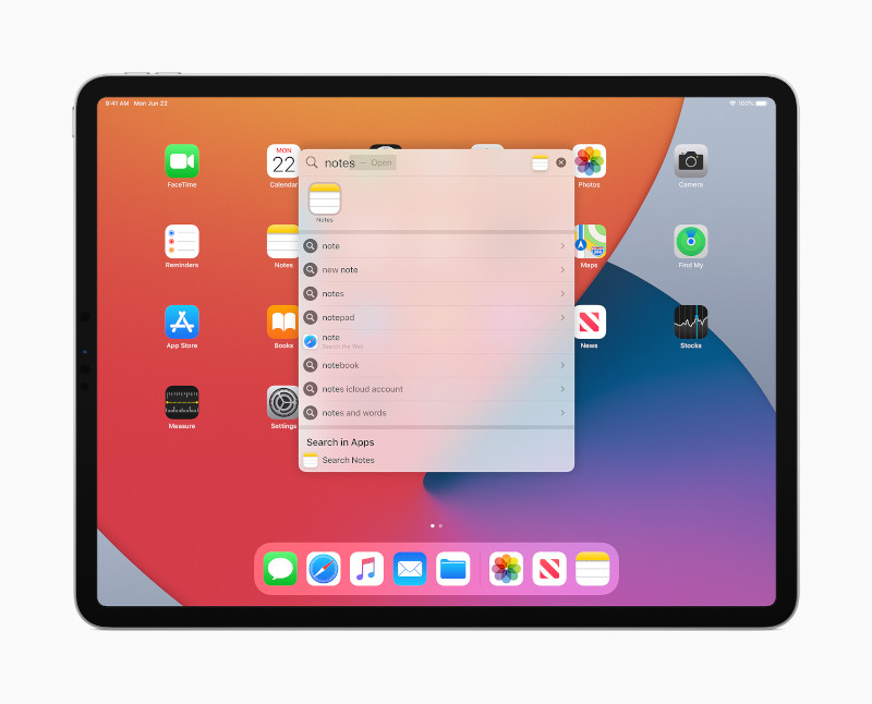 iPad'deki Arama işlevi