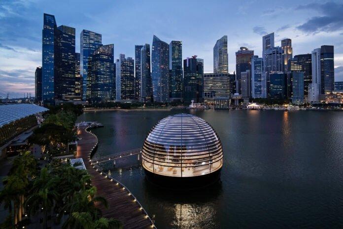 Apple Marina Bay Sands Singapur'da açılıyor