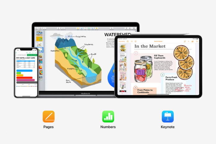 Pages, Numbers ve Keynote iOS ve iPadOS 14 için yeni özelliklerle güncellendi
