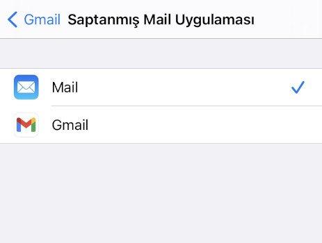 Saptanmış e-posta uygulaması