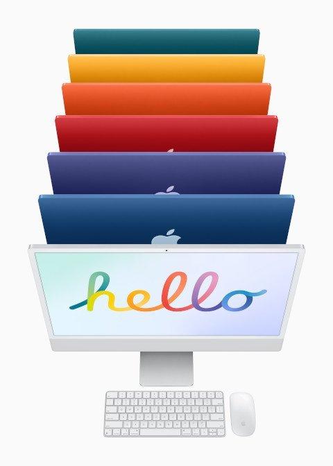 İncecik renkli tasarımı, M1 çip ve 4.5K Retina ekranı ile öne çıkan yeni iMac tanıtıldı